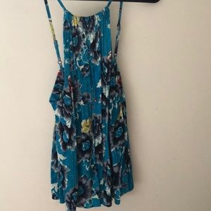 Floral being flowy halter tank top